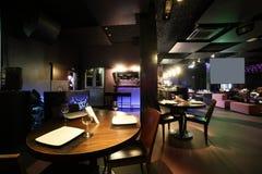 Европейский ресторан в ярких цветах Стоковые Изображения