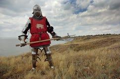 европейский рыцарь средневековый стоковое фото rf