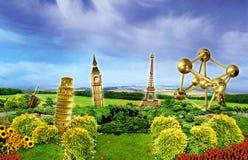 Европейский сад Стоковые Фотографии RF