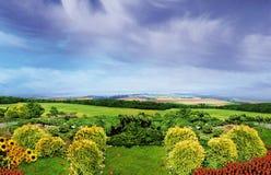 Европейский сад Стоковые Фото