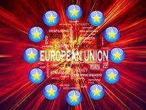 Европейский союз кризиса иллюстрация штока