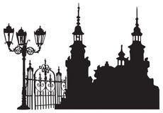 европейский старый городок Стоковое Изображение RF