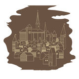 Европейский старый город Стоковые Фотографии RF
