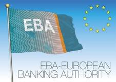 Европейский флаг власти банка, Европейский союз Стоковое Фото