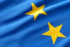 европейский флаг Стоковая Фотография