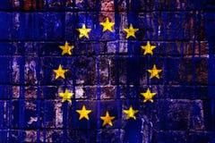 европейский флаг Стоковое Изображение