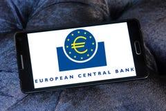 Европейский Центральный Банк, логотип ECB Стоковое Фото