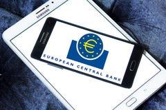 Европейский Центральный Банк, логотип ECB Стоковая Фотография RF
