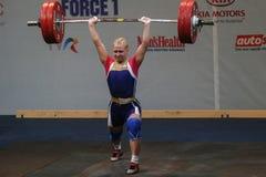 Европейский чемпионат поднятия тяжестей, Бухарест, Румыния, 2009 Стоковое Фото