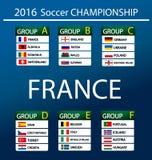 Европейский чемпионат 2016 футбола в Франции Стоковая Фотография RF