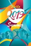 2019 европейских детей летнего отпуска футбола чемпионата здравствуйте резвятся перемещение знамени рекламы предпосылки цвета кон бесплатная иллюстрация