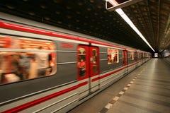 европейское метро prague Стоковая Фотография RF