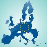 европейское соединение карты Стоковые Фотографии RF