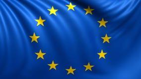 европейское соединение флага Безшовное закрепленное петлей видео, отснятый видеоматериал иллюстрация вектора
