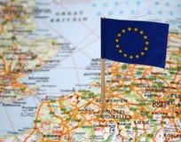 европейское соединение флага Стоковая Фотография