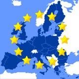 европейское соединение карты Стоковая Фотография RF