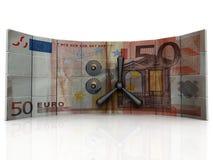евро банка иллюстрация вектора
