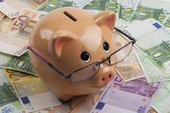евро банка piggy Стоковая Фотография RF