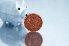 евро банка piggy Стоковые Изображения