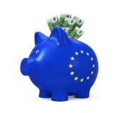 евро банка piggy Стоковое Изображение RF