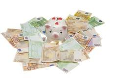 евро банка piggy Стоковое Изображение