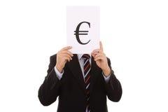евро бизнесмена Стоковое Фото