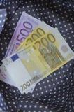 Евро бумажных денег Стоковое фото RF