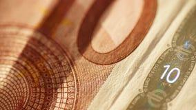 10 евро - близкое поднимающее вверх - деталь Стоковые Изображения
