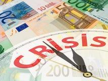 евро валюты коллажа Стоковые Изображения RF