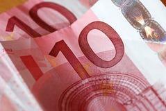 евро валюты крупного плана Стоковая Фотография RF