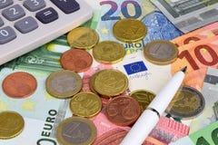 евро валюты кредиток схематическое 55 10 Стоковое Фото