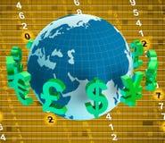 Евро валют показывают английский фунт и доллары бесплатная иллюстрация