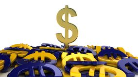 Евро выигрыша доллара иллюстрация штока