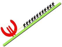 евро вытягивая работников знака Стоковое Фото