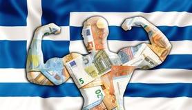Евро Греции сильное иллюстрация штока