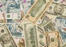 евро дег рублевок доллары мира русского Стоковые Изображения RF