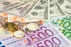 евро доллара валюты Стоковое Фото