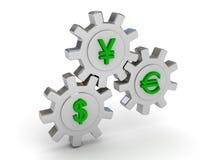 евро доллара зацепляет иены знаков иллюстрация вектора