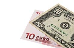 евро доллара кредиток Стоковые Изображения RF