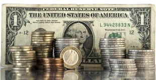 евро доллара принципиальной схемы Стоковые Фотографии RF