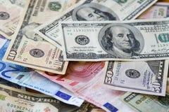 евро доллара против Стоковые Фотографии RF