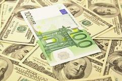 евро долларов backround Стоковые Фото