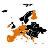 евро европа стран Стоковое Изображение