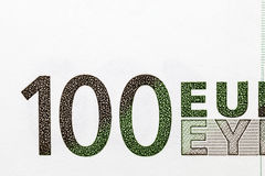 100 евро европейский Стоковое Изображение RF