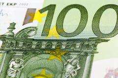 100 евро европейский Стоковое Изображение
