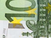100 евро европейский Стоковые Фотографии RF