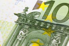 100 евро европейца, конец вверх Стоковые Изображения RF