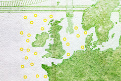 100 евро европейца, конец вверх Стоковые Фото