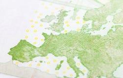 100 евро европейца, конец вверх Стоковое Изображение