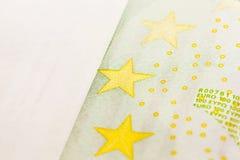 100 евро европейца, конец вверх Стоковое Изображение RF